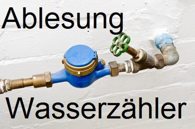 Ablesung Wasserzähler